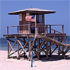 Lifeguard stand crandon beach key biscayne