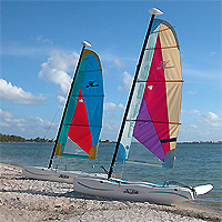 Hobie Beach - Hobie Cats on Key Biscayne Beach