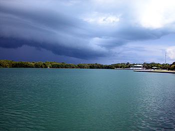 Storm over Key Biscayne No name Harbor